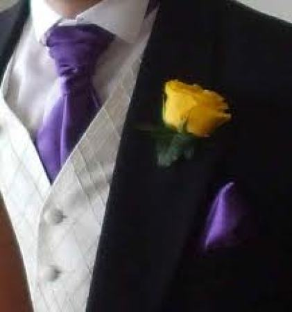Buttonhole Yellow Rose