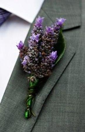 Buttonhole Lavender Flowers