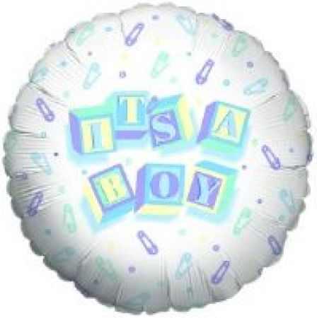 New Born Boy Air Filled 10cm Balloon