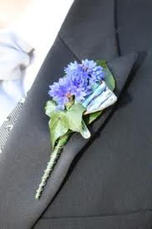 Buttonhole Cornflower