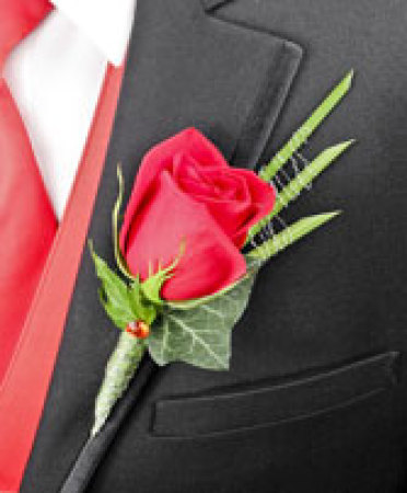 Emirates Stakes Day Buttonhole Red Rose