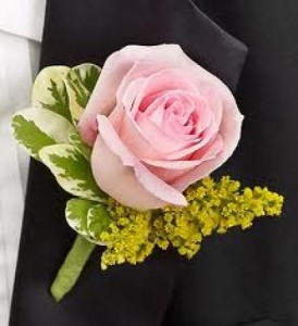 Crown Oaks Day Buttonhole Pink Rose